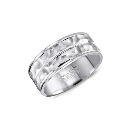 CrownRing Classic and Carved Wedding band WB-8043 product image