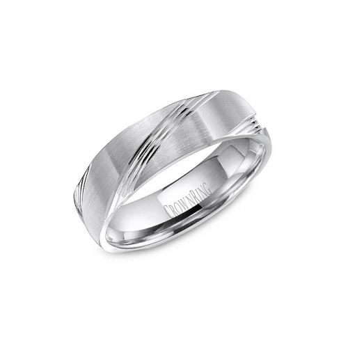 CrownRing Classic and Carved Wedding band WB-8052 product image