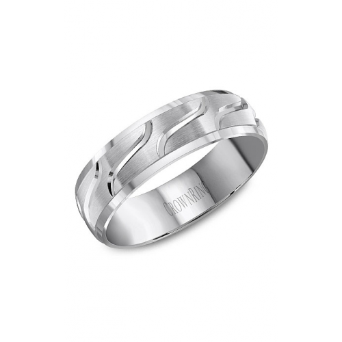 CrownRing Classic and Carved Wedding band WB-8053 product image