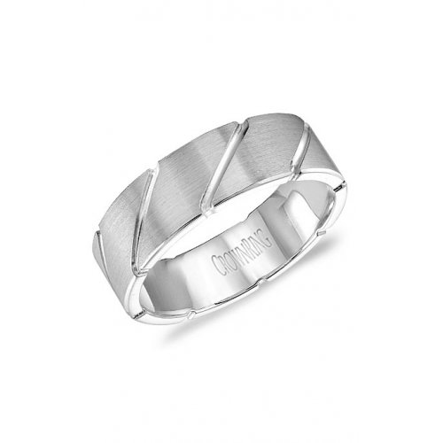 CrownRing Classic and Carved Wedding band WB-9409 product image