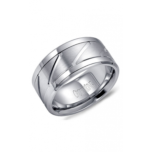 CrownRing Classic and Carved Wedding band WB-9623 product image