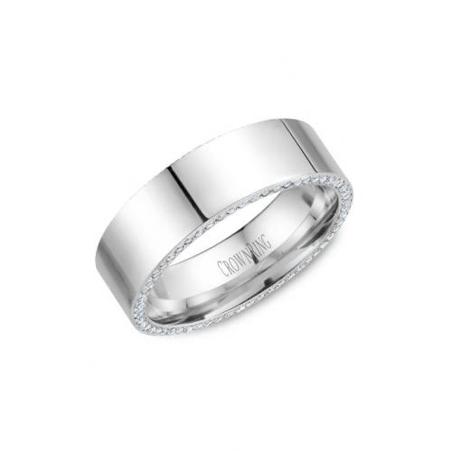 CrownRing Diamond Wedding band WB-033D75W product image