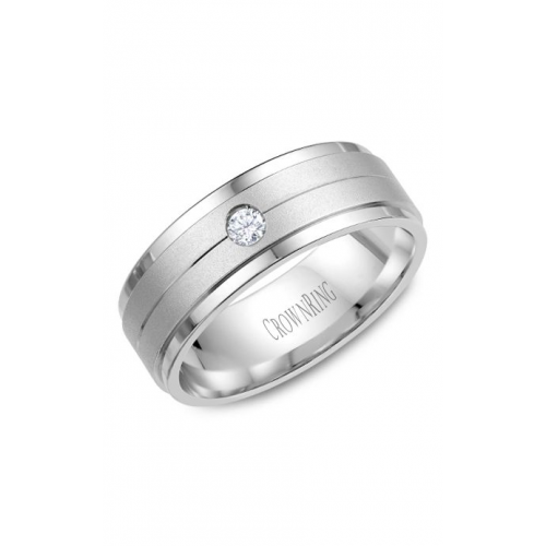 CrownRing Diamond Wedding band WB-7108W product image