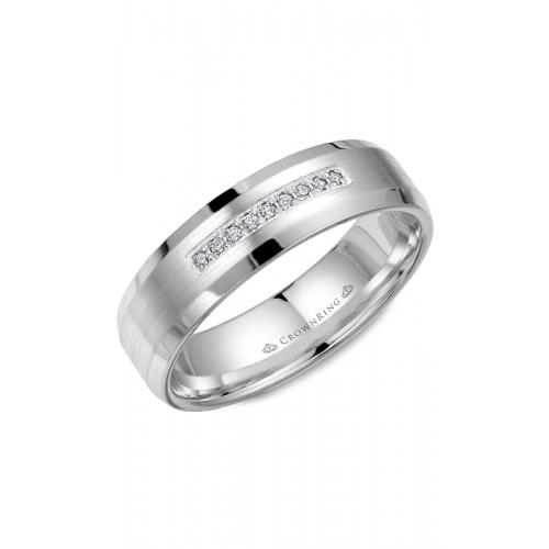 CrownRing Diamond Wedding band WB-9612 product image