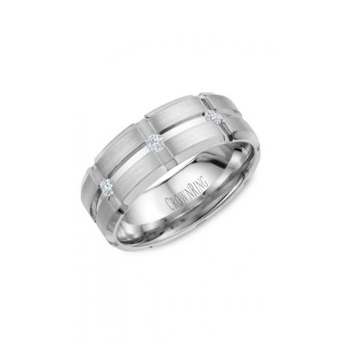 CrownRing Diamond Wedding band WB-9114 product image