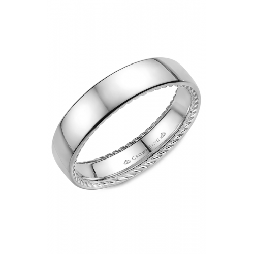 CrownRing Rope Wedding band WB-012R6W product image