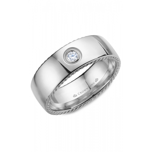 CrownRing Rope Wedding band WB-016RD8W product image