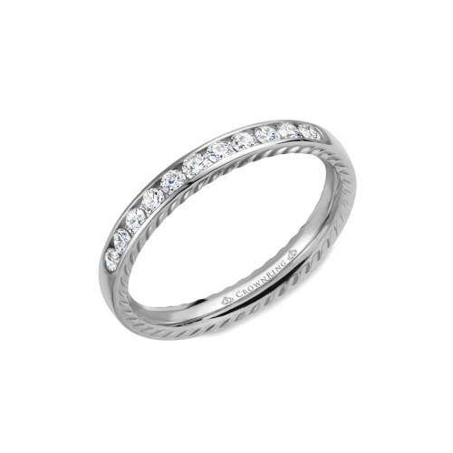 CrownRing Rope Wedding band WB-018RD3W product image