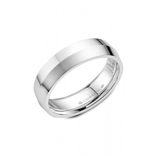 CrownRing Classic and Carved Wedding band WB-062C6W product image