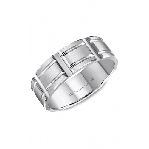CrownRing Classic and Carved Wedding band WB-8048 product image
