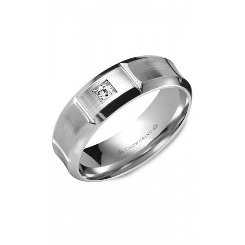 CrownRing Diamond Wedding band WB-9961W product image