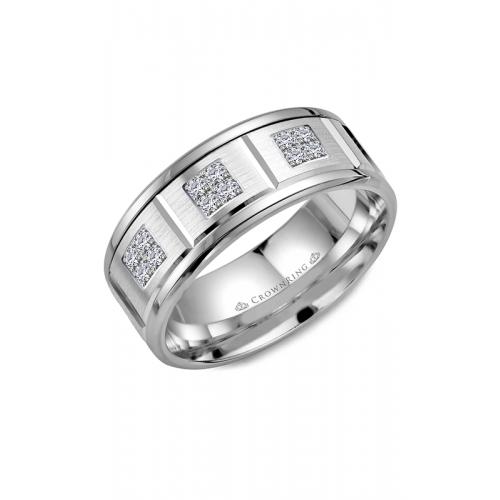 CrownRing Diamond Wedding band WB-9604W product image