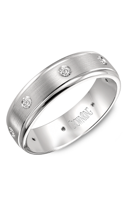 CrownRing Diamond wedding band WB-7096W product image