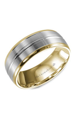 CrownRing Classic and Carved Wedding band WB-9093 product image