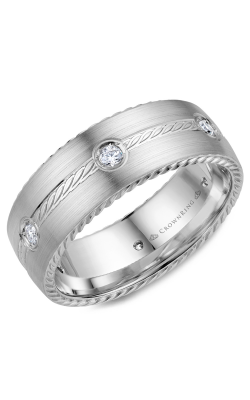 Crown Ring Men's Wedding Band WB-001RD8W product image