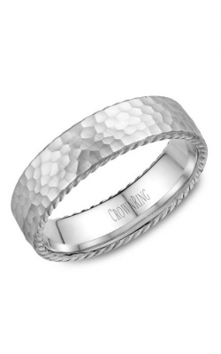 Crown Ring Men's Wedding Band WB-004R6W product image