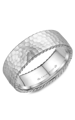Crown Ring Men's Wedding Band WB-004R8W product image