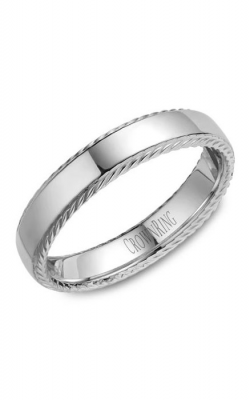 Crown Ring Men's Wedding Band WB-007R5W product image