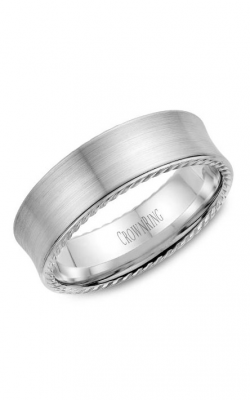 Crown Ring Men's Wedding Band WB-008R7W product image