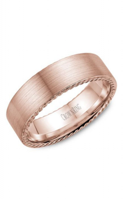 Crown Ring Men's Wedding Band WB-009R7R product image