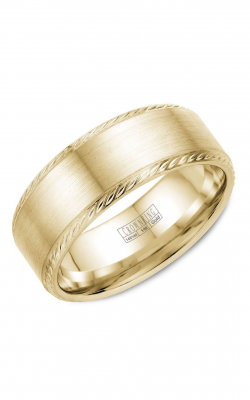 Crown Ring Men's Wedding Band WB-011R8Y product image