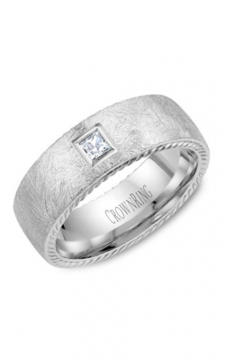 CrownRing Wedding Band Rope WB-013RD8W product image