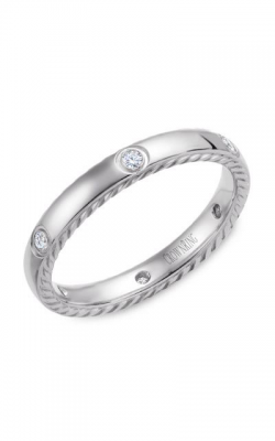 CrownRing Wedding Band Rope WB-016RD3W product image