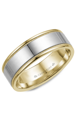 CrownRing Wedding Band Classic And Carved WB-6811 product image