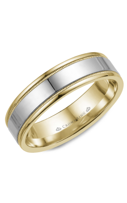 CrownRing Wedding Band Classic And Carved WB-6912 product image