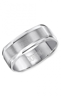 CrownRing Classic and Carved Wedding band WB-8091 product image