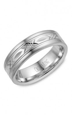 CrownRing Carved Wedding band WB-026C7W product image