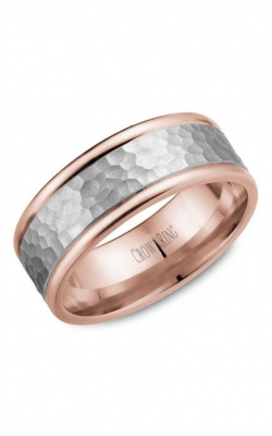 CrownRing Classic and Carved Wedding Band WB-028C8WR product image
