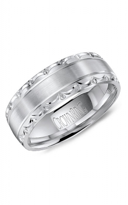 CrownRing Classic And Carved Wedding Band WB-8057 product image