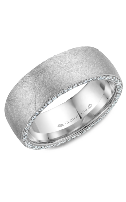 Crown Ring Men's Wedding Band WB-022D8W product image