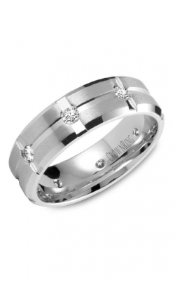 Crown Ring Men's Wedding Band WB-7309 product image