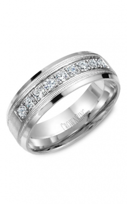 Crown Ring Men's Wedding Band WB-9346 product image