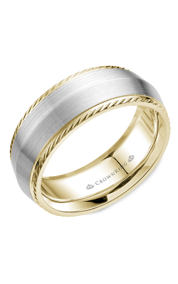CrownRing Wedding Band Rope WB-058R8WY product image