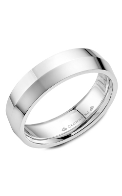 CrownRing Wedding Band Classic And Carved WB-062C6W product image