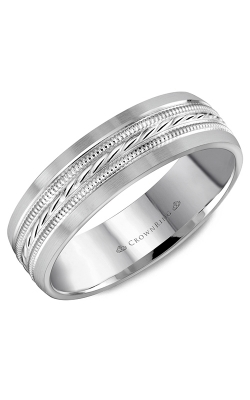 CrownRing Wedding Band Classic And Carved WB-8082 product image