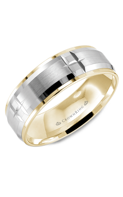 CrownRing Wedding Band Classic And Carved WB-9404WY product image