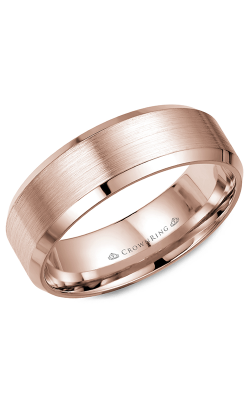 CrownRing Classic and Carved Wedding band WB-7146R product image