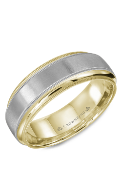 CrownRing Classic and Carved Wedding band WB-9977 product image