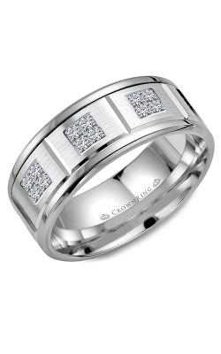 CrownRing Wedding Band Diamond WB-9604W product image