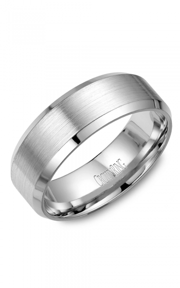 CrownRing Classic and Carved Wedding band WB-7131W product image