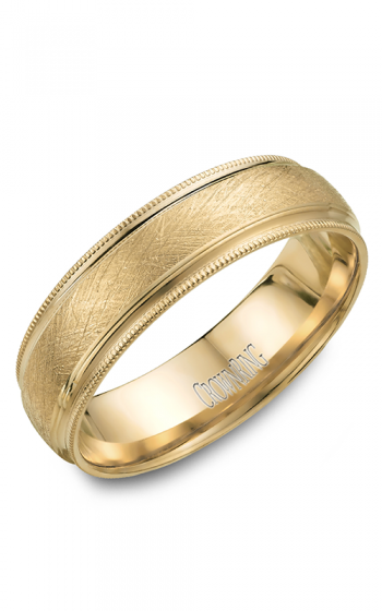CrownRing Classic and Carved Wedding band WB-7915 product image