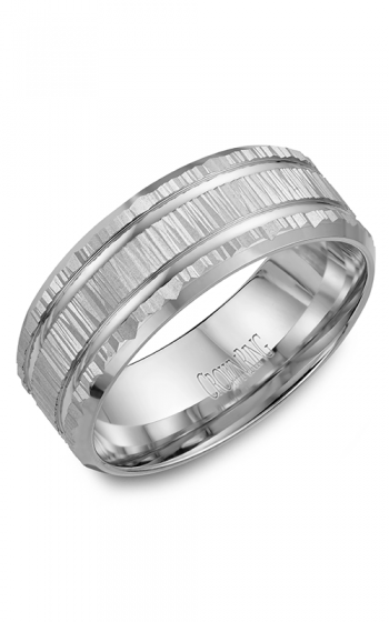 CrownRing Classic and Carved Wedding band WB-7921 product image