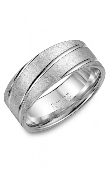CrownRing Classic and Carved Wedding band WB-7937 product image