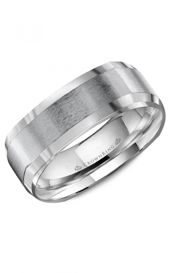 CrownRing Classic and Carved Wedding band WB-8093 product image