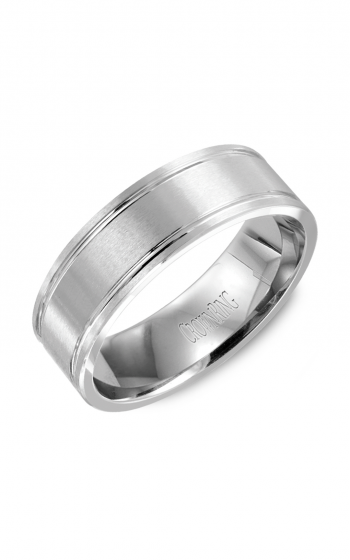 CrownRing Classic and Carved Wedding band WB-9086 product image
