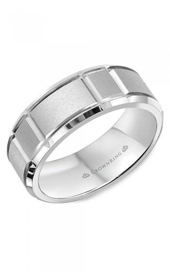 CrownRing Classic and Carved Wedding band WB-9910 product image